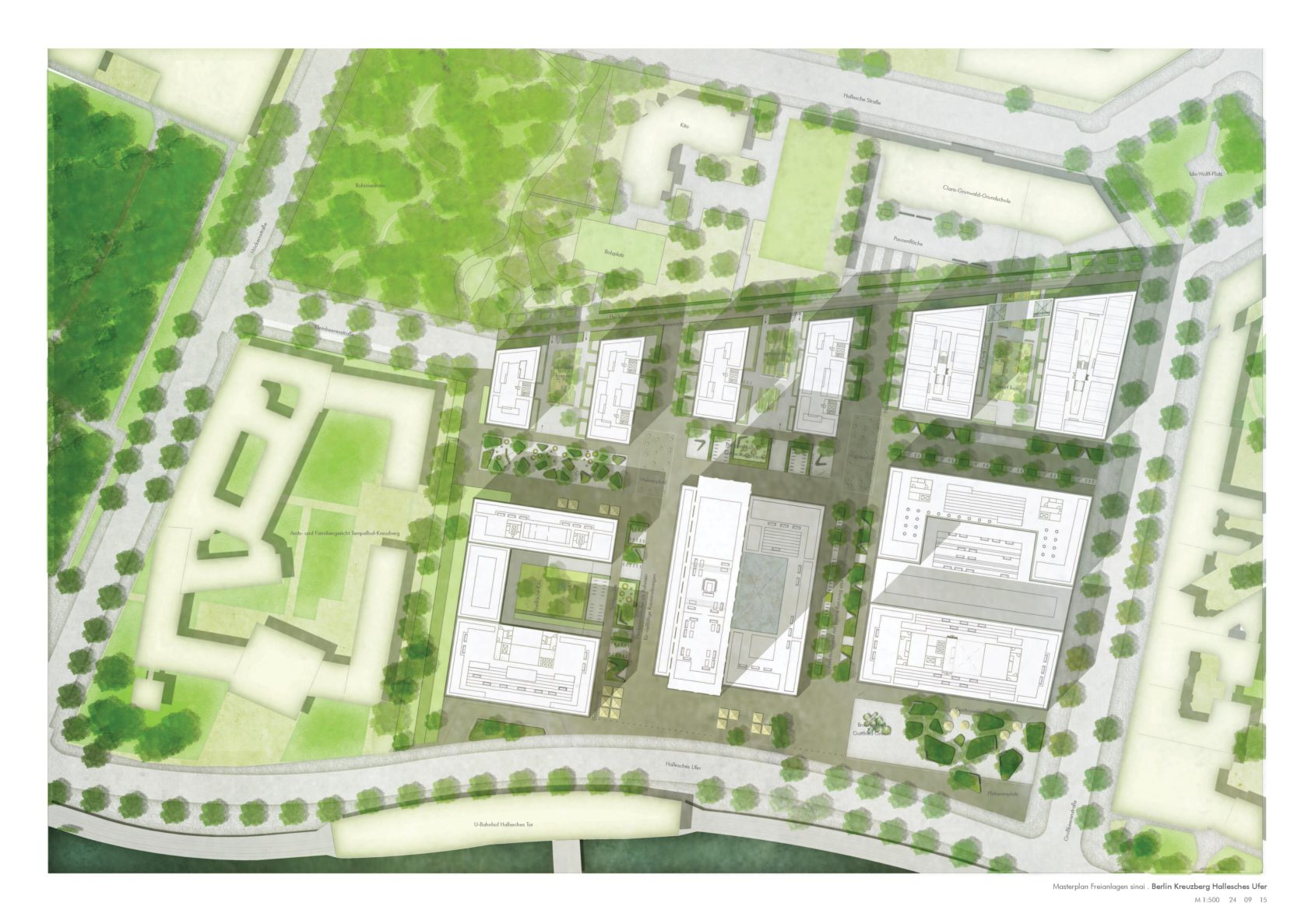 Plan der Freianlagen von sinai - Gesellschaft von Landschaftsarchitekten