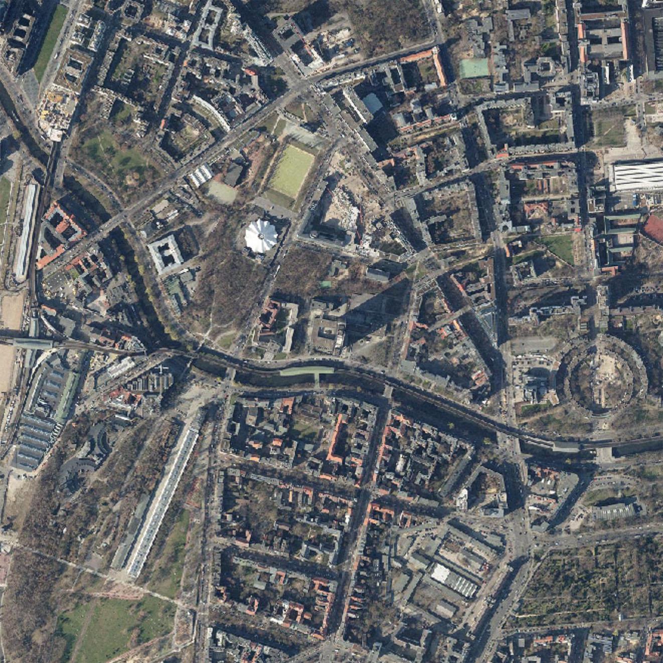 Ausschnitt aus dem Luftbild Stand 2015