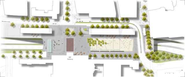 Bahnhofsplatz Entwurfsplan
