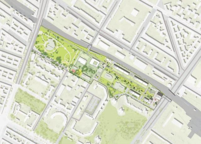 Lageplan städtebauliches Konzept