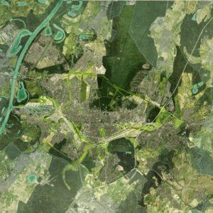 Räumliches Leitbild Karlsruhe Luftbildmontage