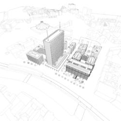 Perspektive Dachgärten - sauerbruch hutton Architekten