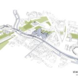 Perspektive - Stadtstruktur von sauerbruch hutton Architekten