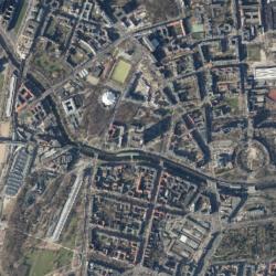 Ausschnitt aus dem Luftbild Stand 2015 - Digitales farbiges Orthophoto (c) Senatsverwaltung für Stadtentwicklung und Wohnen, Berlin