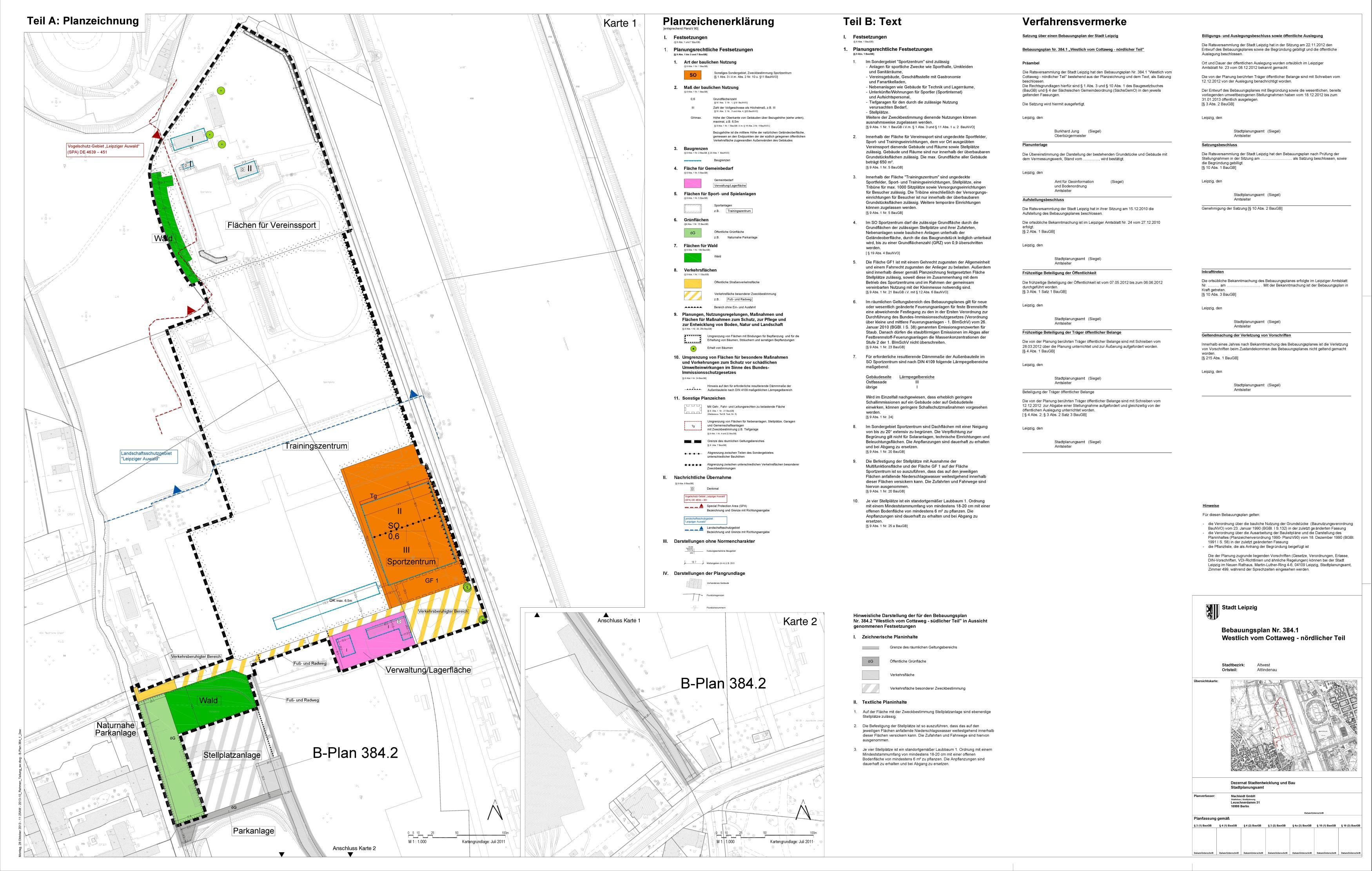 Bebauungsplan Cottaweg Nr. 384_1 Nordteil