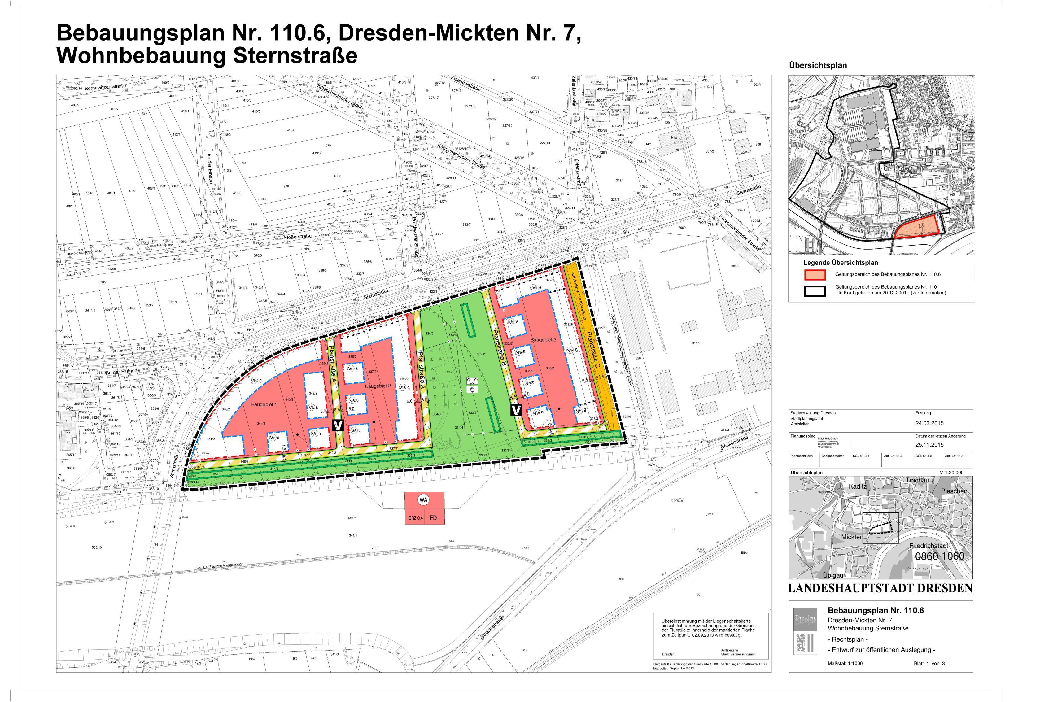 B-Plan 110.6 Auslagefassung