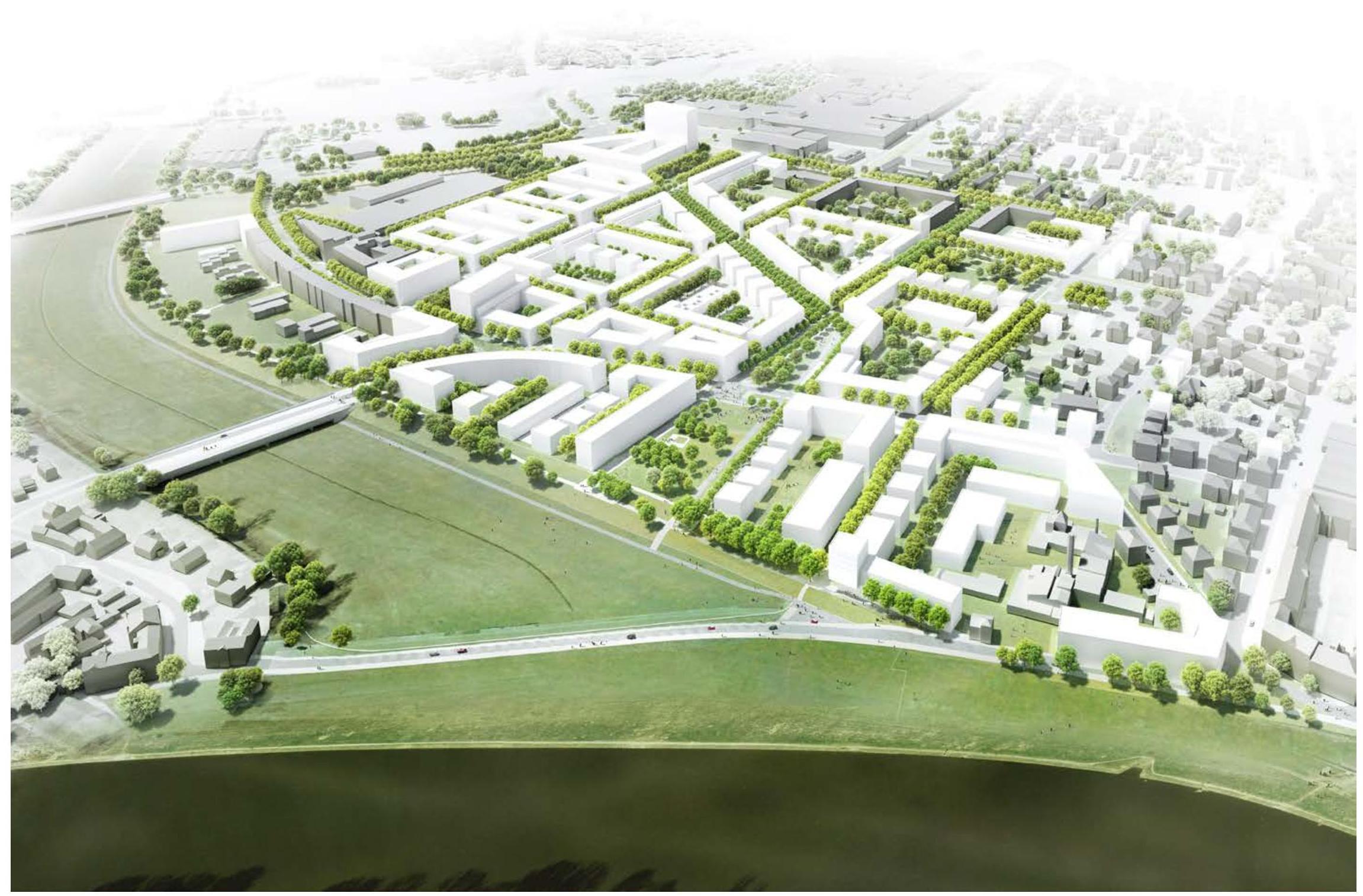 Dresden Mickten Masterplan Überarbeitung Machleidt GmbH - Pespektive