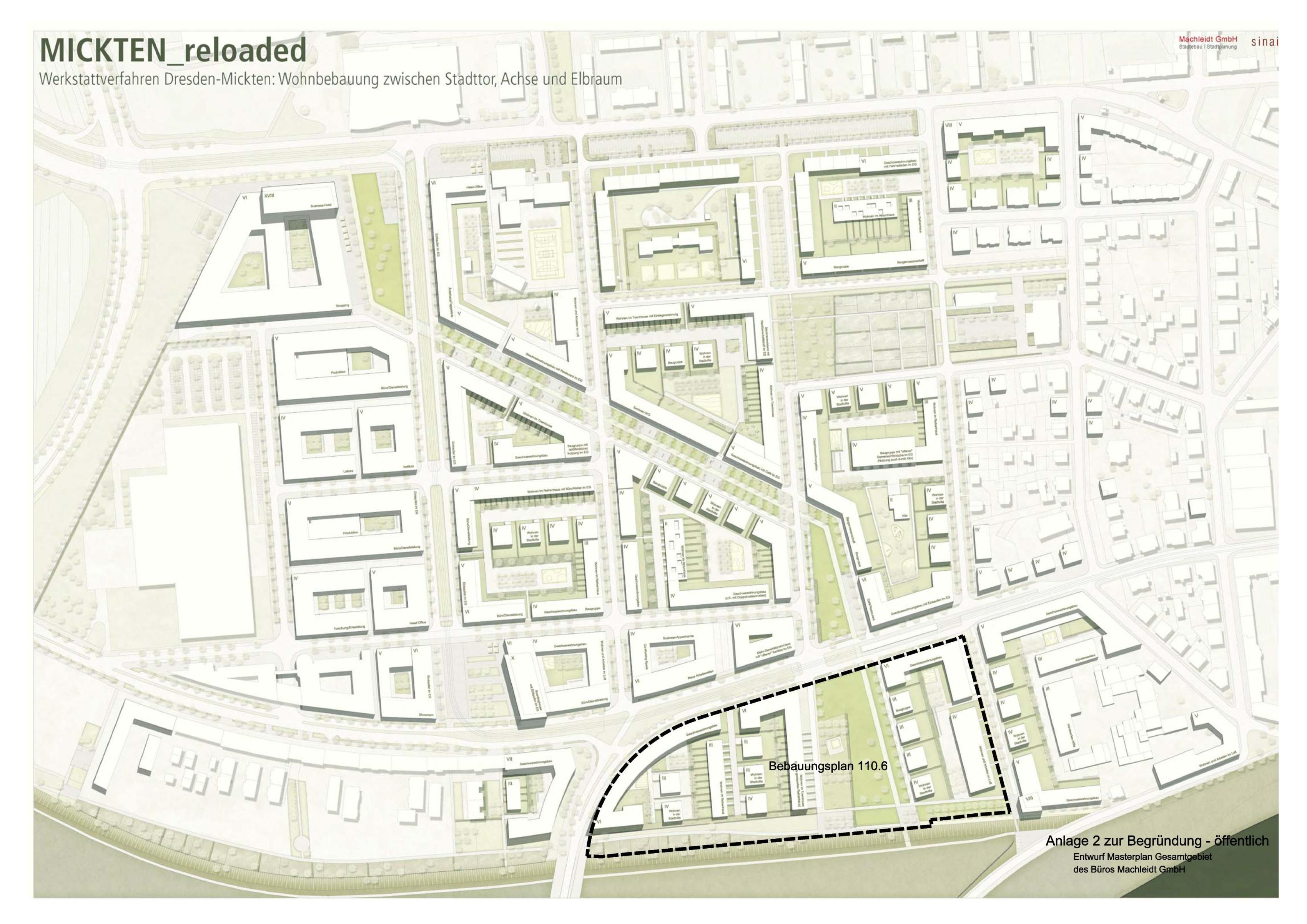 Dresden Mickten Masterplan Überarbeitung Machleidt GmbH