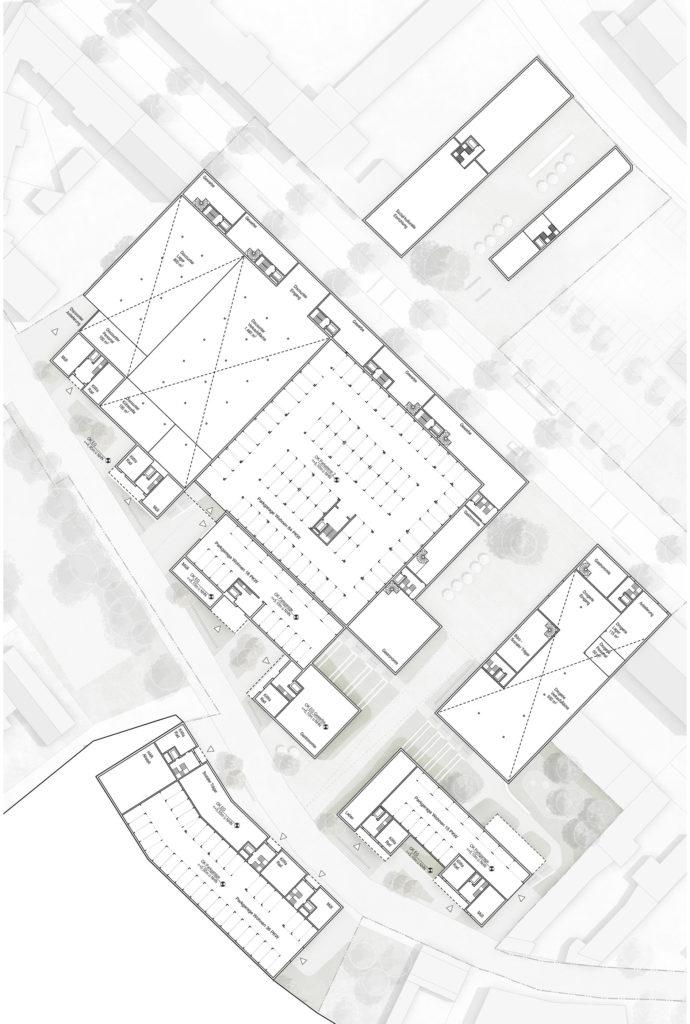 Erdgeschoss Ebene Gartenstraße M 1:500